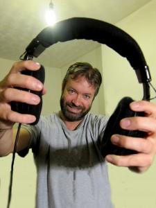Mark Hodkinson, headphones