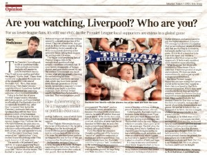 Times piece on why to support a small football club, 7.82010