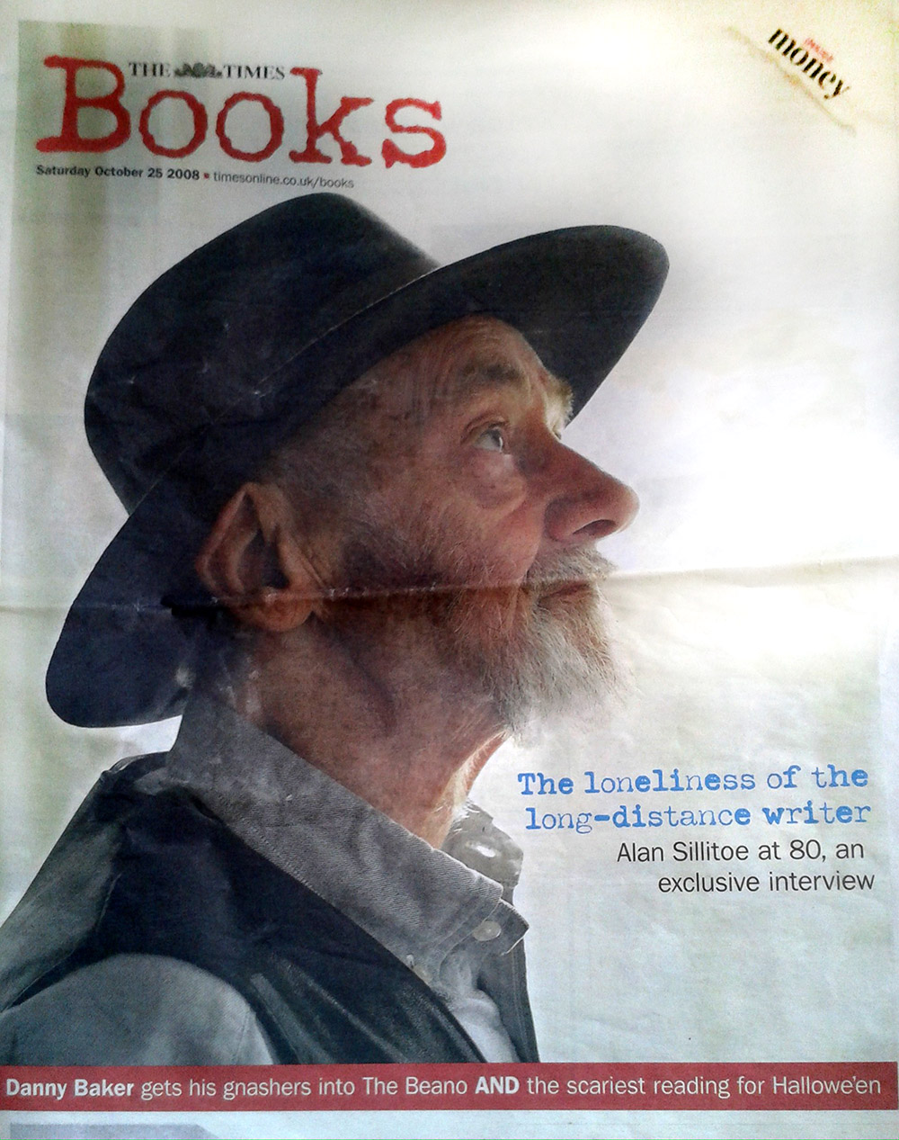 alan sillitoe 80_Mark Hodkinson interview_Times cover
